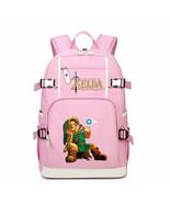 Legend of zelda kid backpack schoolbag bookbag daypack pink large bag d thumbtall