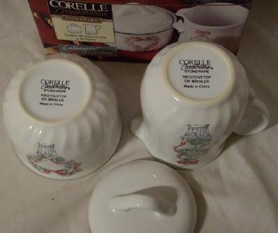 Corelle Callaway Holiday Coordinates Sugar & Creamer Set