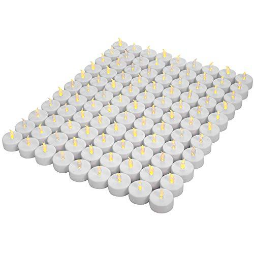 Primary image for Tea Lights,LED tealight Tea Candles 100-pack,Battery Candles,Flickering Tea Cand