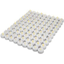Tea Lights,LED tealight Tea Candles 100-pack,Battery Candles,Flickering ... - $19.51