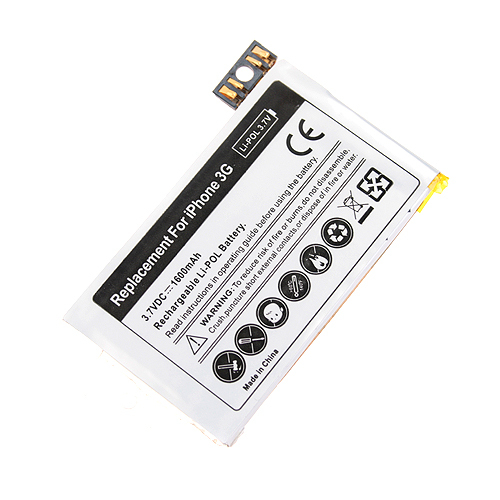 Replacement Battery 1600MAh 3.7V For iPhone 3G FREE Shipping