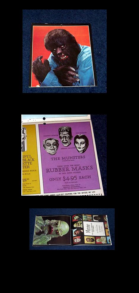 Universal Monster Calendar 1966 Creature Wolfman Munsters and more