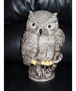 Ceramic Owl Figurine 10 Inches - $24.99