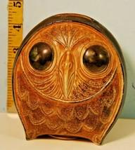 Lovely Black Eyed Barn Owl Pottery Bank OMC Japan - $24.75