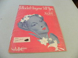 "vintage 1936 sheet music ""I Hadn't Anyone Till ... - $5.00"