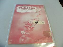 "vintage sheet music ""Cradle Song"" - $5.00"