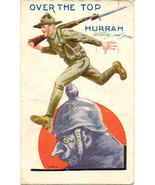 Over The Top and After The Hun 1918 Vintage Post Card  - $5.00