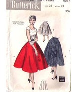 1952 CIRCLE SKIRT  Pattern 6167-b Waist Size 24 - $9.99
