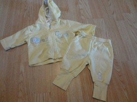 Toddler Boys Child Of Mine Carter's S (8-12.5 lb) Yellow Outfit Giraffe Elephant - $12.19