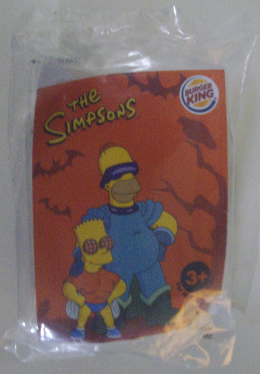 The Simpsons Treehouse of Terror Homer Simpson Burger King