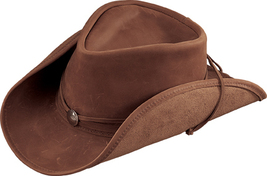 Henschel Leather Western Hat Shapeable Lightweight Made In USA Brown Camel - $78.00