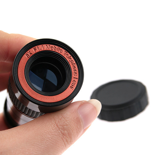 8X F1.1 Zoom Lens Telescope with Tripod for iPhone 4