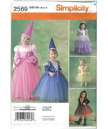 Simplicity 2569 Princess Costumes Toddler Child Sizes 4 to 8 Uncut - $4.99