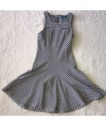 LUTTA Womens Sz S Nautical Navy White Striped Summer Form Fitting Dress - $19.79
