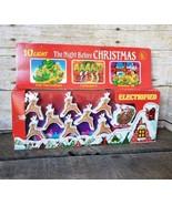 Vintage Night Before Christmas 10 Piece Santa & Reindeer String Light Se... - $24.18