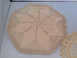Assorted Antique Knit Doilies Set of 6 Various Sizes image 3