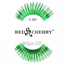 C207 Red Cherry Lashes Color Lashes Fake False Eyelashes US Seller - $3.75
