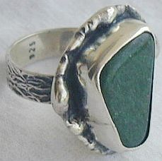 Green quartz ring HMC