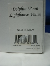 Cobalt Blue Glass Dolphin Point Lighthouse Votive by LENOX - Mint in Original Bo image 6