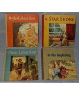 Set of four Childrens Christian Stories ca 1949 Vintage - $12.95