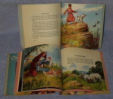 Set of four Childrens Christian Stories ca 1949 Vintage