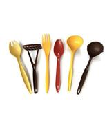 VTG Plastic Utensils Cooking Spoons Ladles Fork Masher Foley Tupperware ... - $29.69