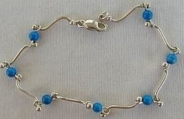 Turquoise silver bracelet - $21.00
