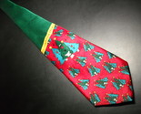 Tie keith daniels christmas red and green with singing christmas trees 03 thumb155 crop