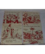 Set of Four early youth Sabbath School lesson books 1949  - $12.95