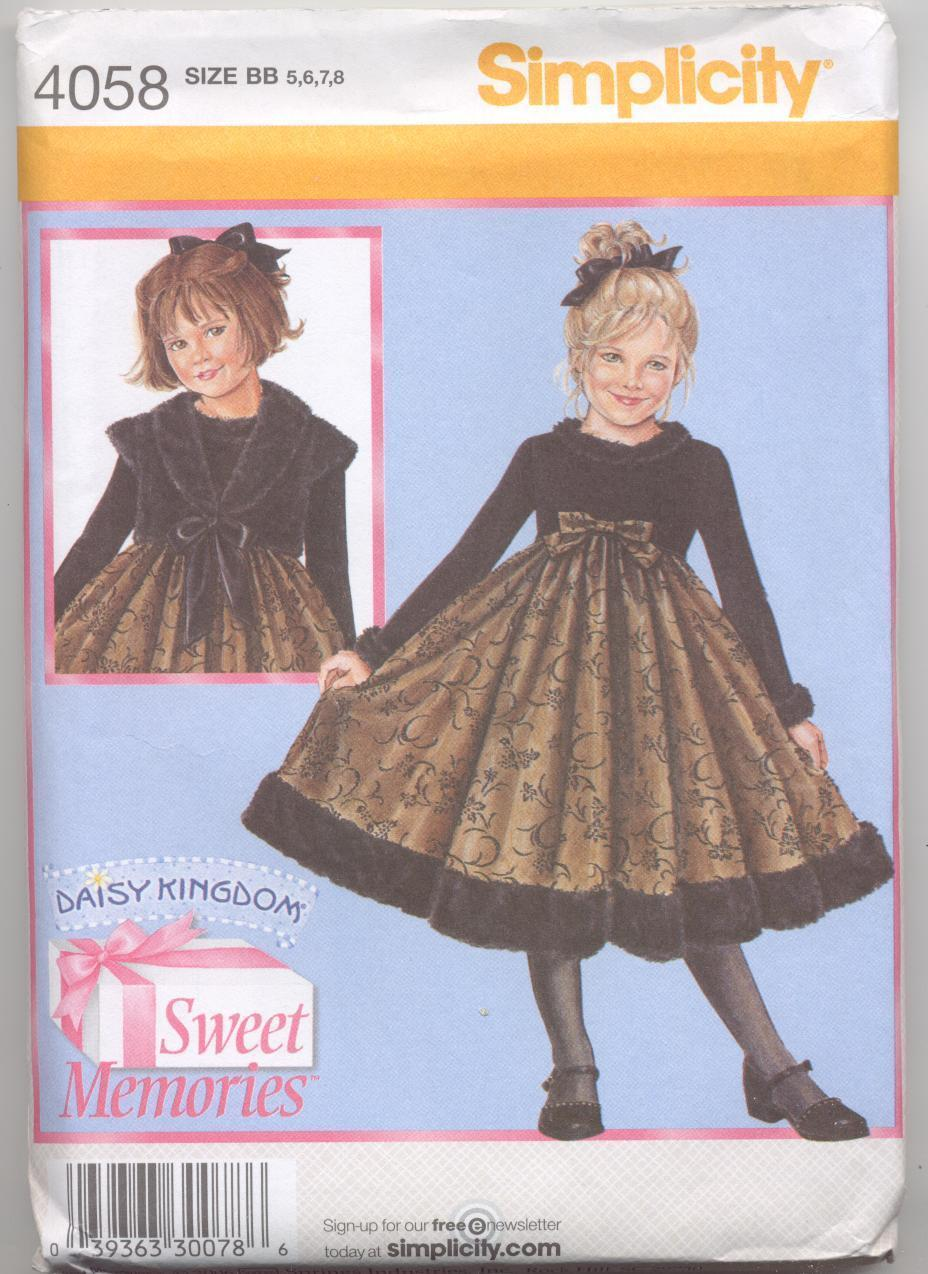 Simplicity Daisy Kingdom 4058 Childs Dress & Jacket Sweet memories