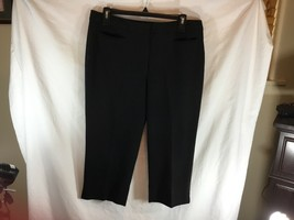 Talbots Petites 12 Black Heritage Capri Pants Career 65% Poly 32% Viscos... - $11.20