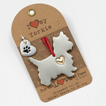 Yorkshire Terrier Ornament & Dog Charm Set - $18.95