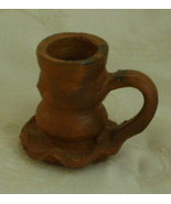 Candlestick Holder, Hand Thrown Pottery, Ecuadorian 1997  - $8.00