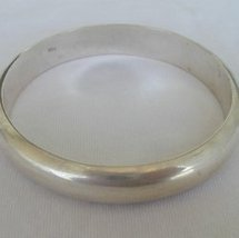 Silver bangle - b - $63.00