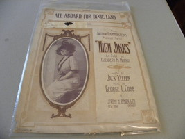 "vintage 1913 sheet music ""All Aboard For Dixie ... - $5.00"