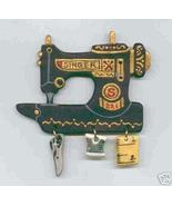 Ceramic Sewing Machine Pin  Singer 221 Handcrafted - $14.95