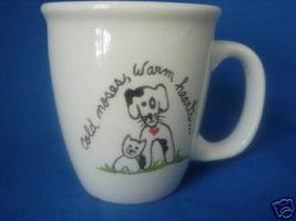 Personalized Ceramic Mug Dog & Cat  Handpainted - $12.50