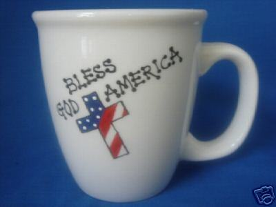 Personalized Ceramic Coffee Mug Patriotic  Handpainted