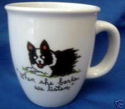 Personalized Ceramic Coffee Mug Border Collie Handpainted - $12.50