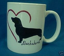 Personalized CeramicCoffee Mug Dachshund Dog Handpainted - $12.50