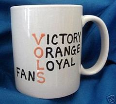 Personalized Ceramic Coffee Mug Tennessee Vols Handpainted - $12.50