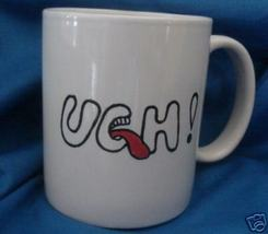 Personalized Ceramic Coffee Mug  Ugh Handpainted - $12.50