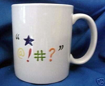 Personalized Ceramic Coffee Mug Total confusion Handpainted