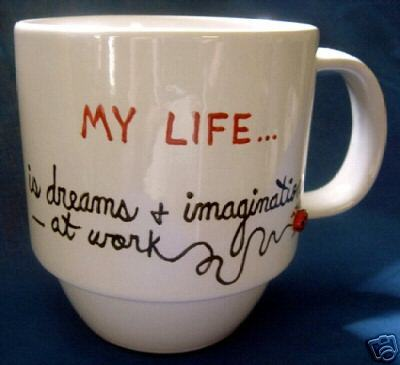 Personalized Ceramic Coffee Mug My Life Handpainted