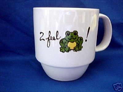 PersonalizedCeramic Coffee Mug Froggy Handpainted