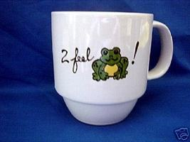 PersonalizedCeramic Coffee Mug Froggy Handpainted - $12.50