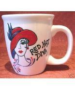 Personalized Ceramic Coffee Mug Red Hat  Handpainted - $12.50