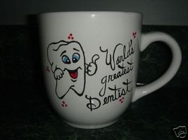 Personalized Ceramic Mug Dentist or Hygenist Handpainted - $12.50