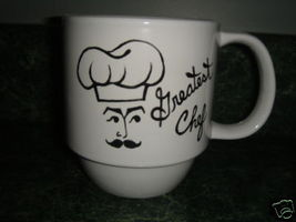 Personalized Ceramic Mug Greatest Chef Handpainted - $12.50