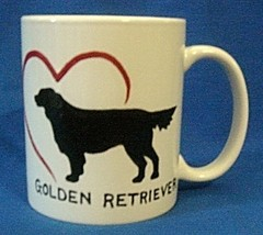 Personalized Ceramic Mug Golden Retriever Handpainted - $12.50